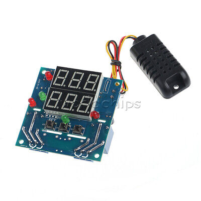 Digital Acdc 12v Temperature Humidity Relay Thermostat Controller Sensor Module