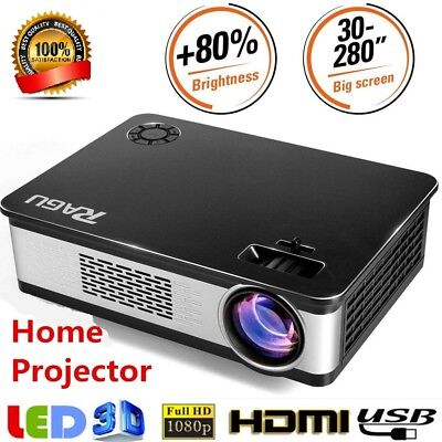 RAGU Z720 1080P Full HD LED Projector Home Theater Cinema HDMI VGA USB SD AV TV
