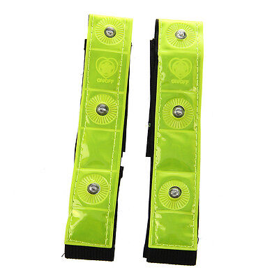 Reflective 4LED Night Light Safety Running Belt For Night Bicycle Accessories