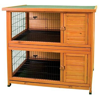 Premium Plus Hutch - Ware Premium Plus Double Decker Rabbit Hutch, Medium