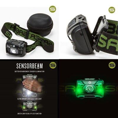 Saber Sensorbeam Head Torch, Carp Fishing Headlamp Movement Sensor HeadLight