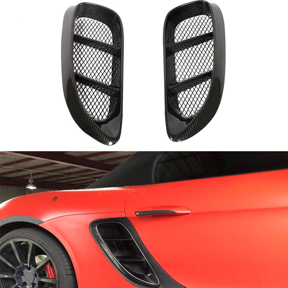 Carbon Fiber Side Air Vents Cover Trim For Porsche 718 Boxster Cayman 2016-2018
