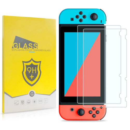 2-Pack Premium HD Tempered Glass Screen Protector Film Guard for Nintendo Switch