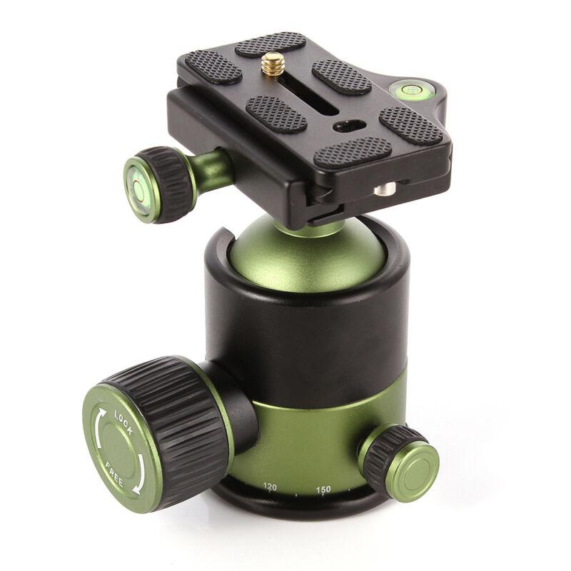 Pro 20KG Heavy Duty Tripod Monopod Ball Head DSLR Camera 1/4 Quick Release Plate