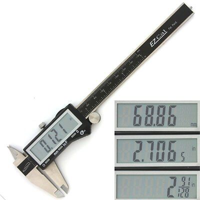 Igaging Digital Electronic Caliper X-large Lcd Precision Fractional 1128 Ezcal