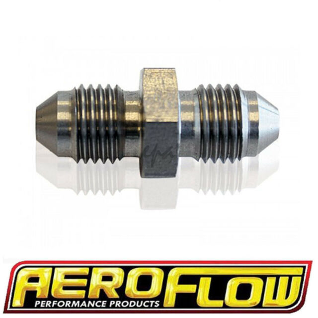 AEROFLOW STAINLESS STEEL MALE FLARE UNION FITTING -6 AF360-06