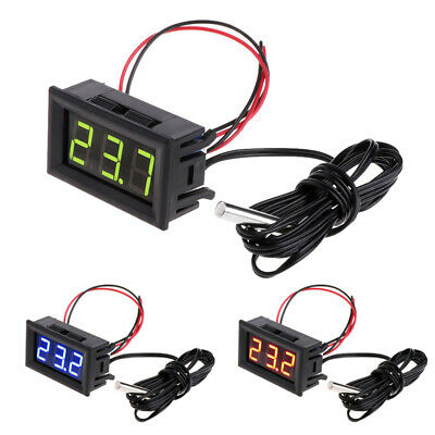 Digital Lcd Thermometer Temperature Auto Car Meter Gauge With Probe Dc 12v