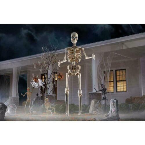 12 ft. Giant-Sized Skeleton with LifeEyes Home Depot New In Box!