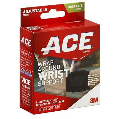 Ace Wrap Around Wrist Support Adjustable Moderate Support 1 Ea