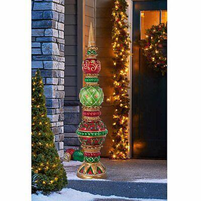 6' Holiday Ornament Topiary, 56 LED Lights, Christmas Holiday -