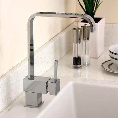 Cosmo Brush Steel Single Lever Swivel Spout Kitchen Sink Mixer Tap 5EBS