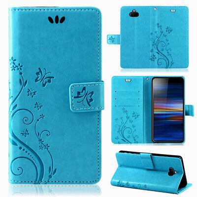 Sony Xperia 10 Handy Tasche Wallet Case Schutz Hülle Blumen Flip Cover Etui Neu Neue Wallet Case