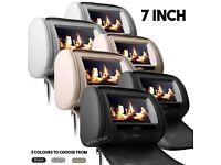 "2 x 7"" Digital Car HD Screen Headrest DVD SD USB Player With Free Games - HD705"