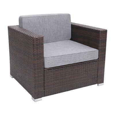 Garden Furniture - Outdoor Patio Garden Furniture Rattan Wicker Sofa Set -Single Sofa