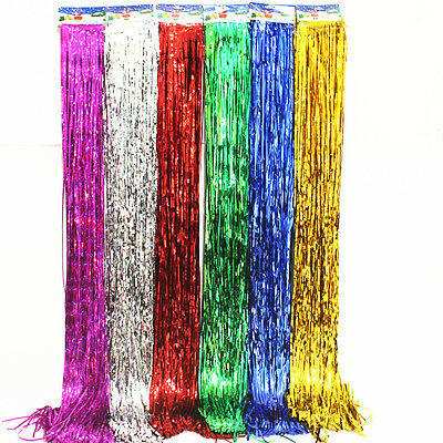 Shimmer Door Curtain&Fringe Garlands Foil Curtains For Wedding Party Decoration - Decorations For Curtains