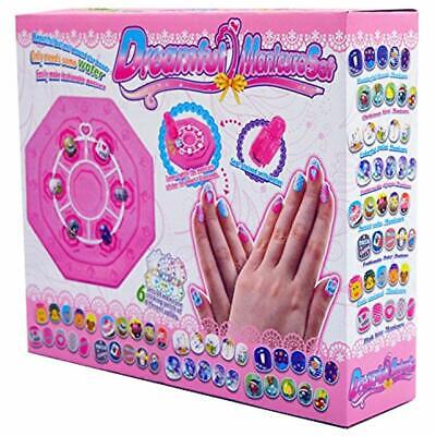 Kids Nail Art Stickers Kit Makeup Set Gifts For Girls Ages 7