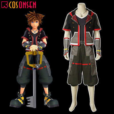 Kingdom Hearts Outfits (Cosonsen Kingdom Hearts 3 Sora Costume Cosplay Halloween Outfits Full)