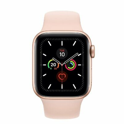 ORIGINAL Apple Watch Series 5 (GPS) 40mm Dorado Aluminum Caja Rosa Sport Band