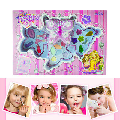 Fashion Girls Butterfly Cosmetic Makeup Set For Kids Eyeshadow Lip Gloss - Butterfly Makeup Kids
