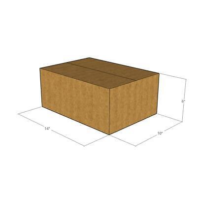 Brown SI Products 4 Bundles 6 x 6 x 4 Multi-Depth Shipping Boxes - 25//Bundle MD664
