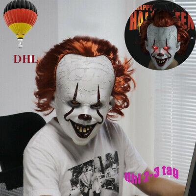 LED Cosplay Kostüm Stephen Kings Es Maske Pennywise Horror Clown Joker Halloween