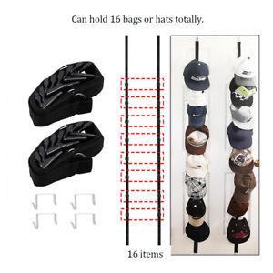 2x Hat Rack Baseball Cap Hat Holder Rack Organizer Storage Door Closet Hanger US