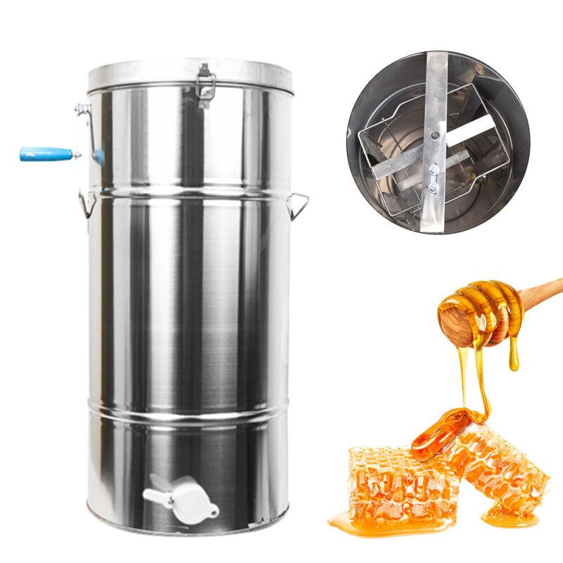 2 Frame Manual Honey Extractor Beekeeping Equipment Honeycomb Drum 70cmx 35cm US