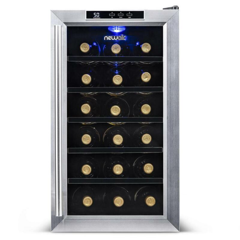 NewAir AW-181E 18 Bottle Wine Cooler With Digital Temperatur