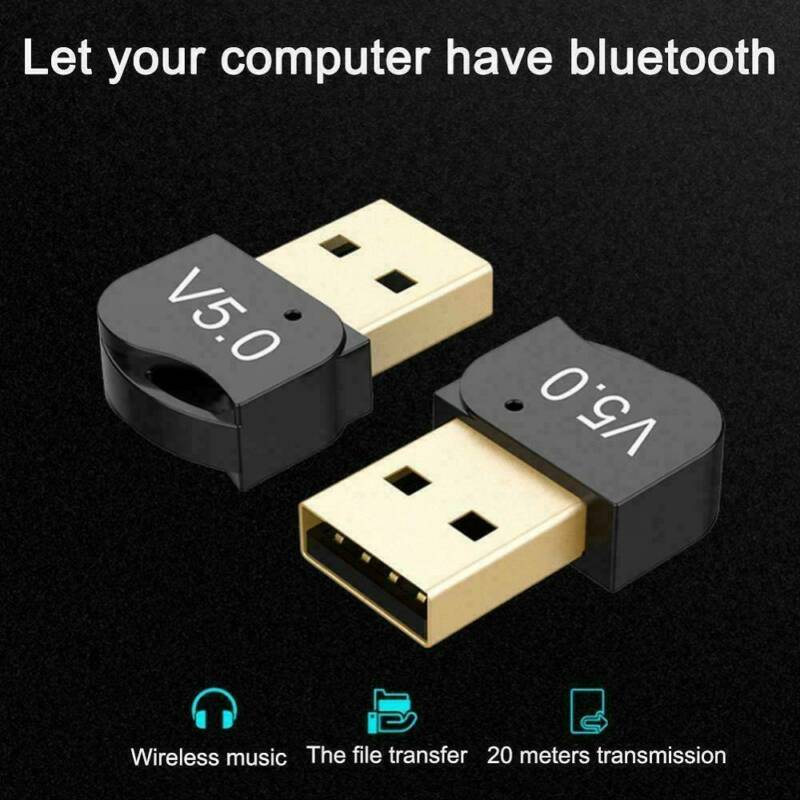 USB 5.0 Bluetooth Adapter Wireless Dongle High-Speed For PC