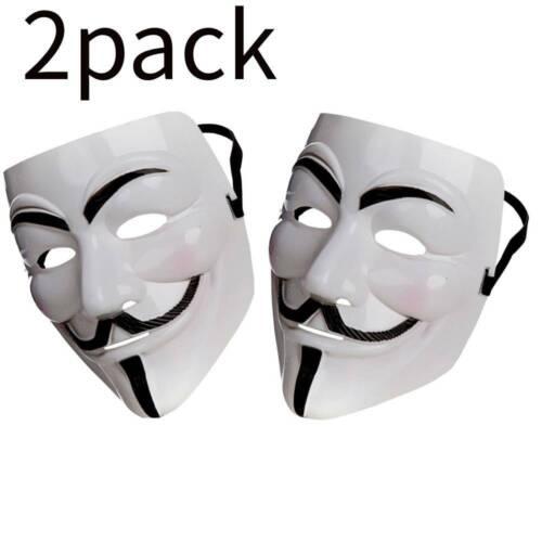 2X Guy Fawkes Maske V Vendetta Anonym Besetzen Cosplay Halloween Karneval