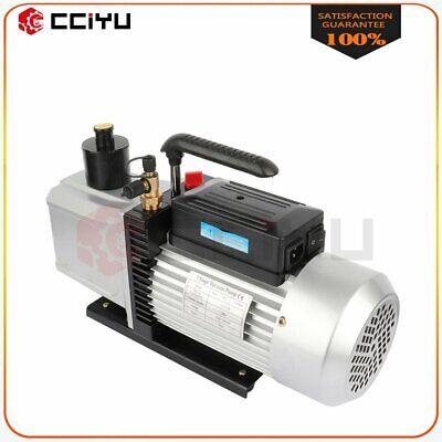 1 Hp 12 Cfm Rotary Vane Deep Vacuum Pump 110v Hvac Ac Refrigerant Charge Black