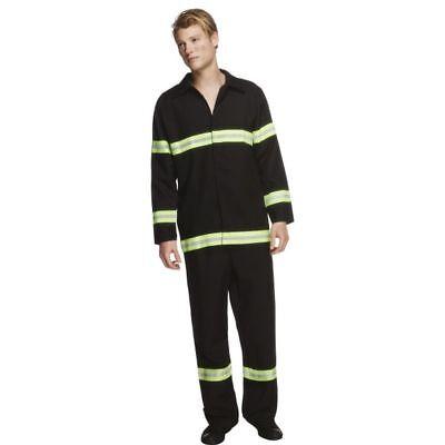Smi - Herren Kostüm Feuerwehrmann Jacke Hose Karneval (Feuerwehr Hose Kostüm)