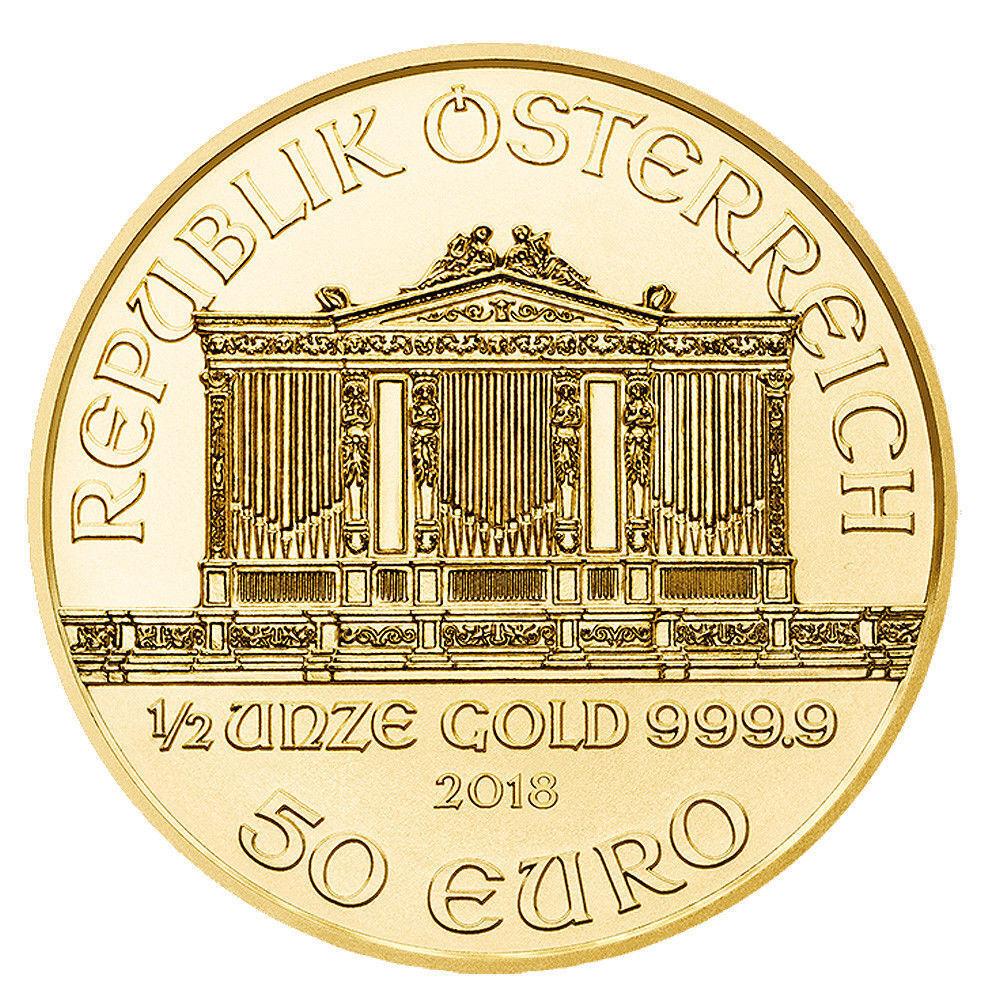 50 Euro Austria 2018 BU - 0,5 OZ Gold Wiener Philharmoniker 2018