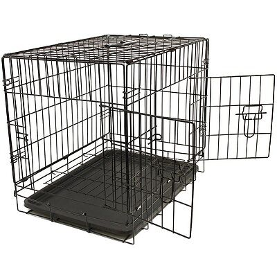 Pet Kennel Cat Dog Folding Steel Crate Animal Playpen Wire Metal Cage 48