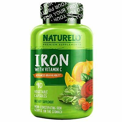 Vegan Iron Supplement With Whole Food Vitamin C - Best Natural 2DAY (Best Whole Food Vitamins)