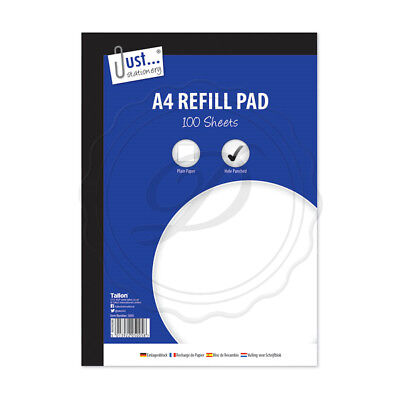 Used, A4 Plain Refill Pad 100 53gsm Sheet - Plain Paper 100 Sheets School Office Home for sale  Shipping to Ireland
