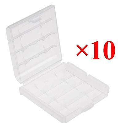 10PCS Plastic Case Holder Storage Box Cover for Rechargeable AA/AAA Batteries