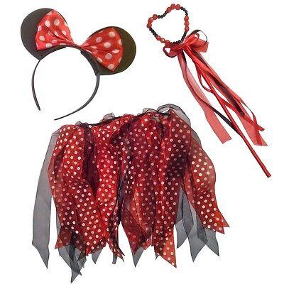 Fee Style Satz Zubehör Minnie Maus Kostüm Tutu Ohren (Maus Kostüm Zubehör)