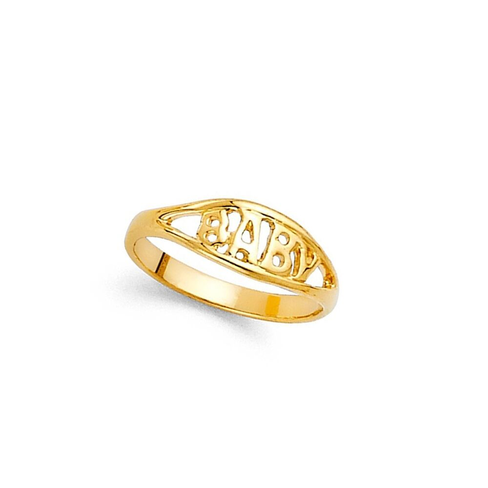 14k Yellow Gold Childrens Polished Baby Ring.