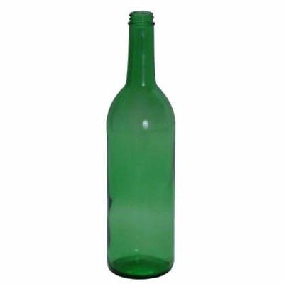 750ml Green Glass Claret Wine Bottles, screw top finish For