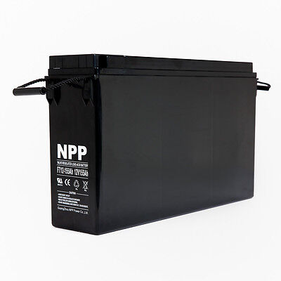 Npp Ft12-155ah 12v 155 Ah Front Access Agm Deep Cycle Battery For Ups Pv Solar