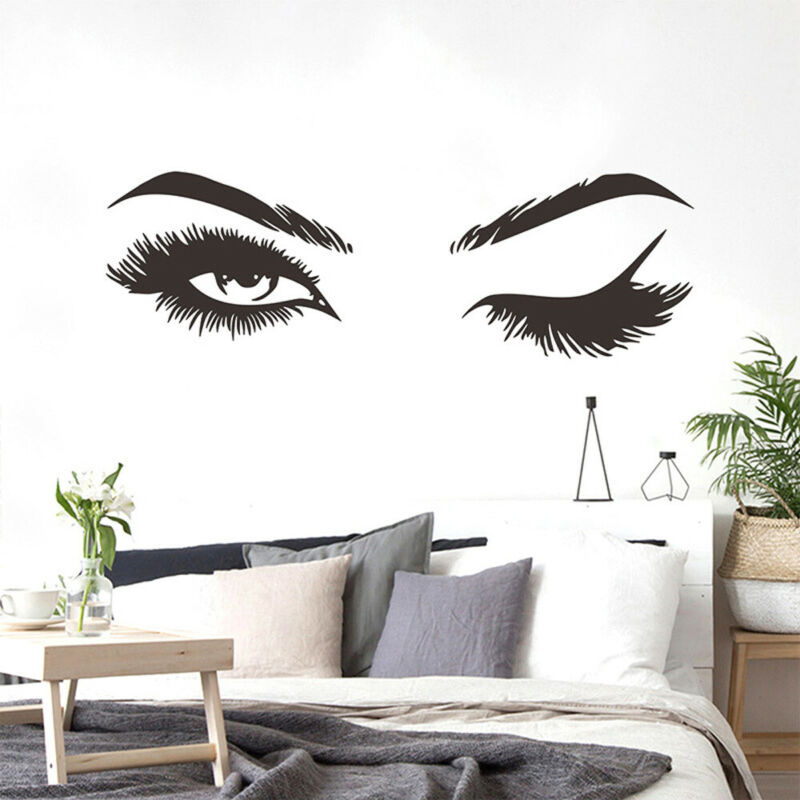 Home Decoration - Beauty Room Decorations Eyelashes Eyes Home Decor Wall Stickers Mural Art Decal