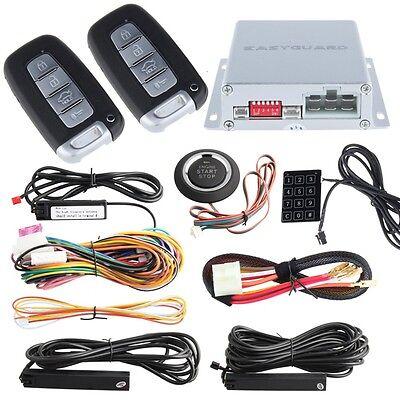Quality EASYGUARD PKE Car Alarm system Push button starter Passive Keyless Entry