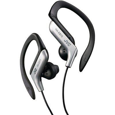 JVC Sports Clip Headphones, Splashproof for Sport & Exercise in (Jvc Silver Headphone)