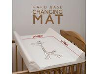 Baby cot changing mat / units (cot top changer 70x50cm) - giraffe ecru