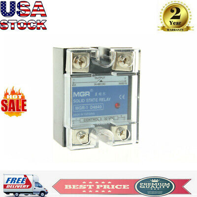 40A Solid State Relay SSR 40DA Input 3-32V DC Load 24-480V AC D4840