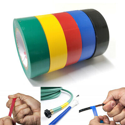 5 Rolls Pvc Electrical Tape Wire Insulating 5 Color 32ft Length 0.7 Wide Set