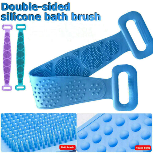 Silicone Back Scrubber Body Cleaning Tools Bathing Belt Dual Sided Massage Brush