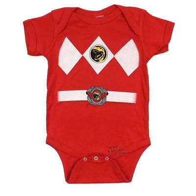 Infant Baby Mighty Morphin Power Rangers Red Ranger Costume Romper (Infant Power Ranger Costume)
