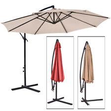 Sombrilla Parasol 3 metros Terraza Jardín Patio Ajustable Protección Solar UV